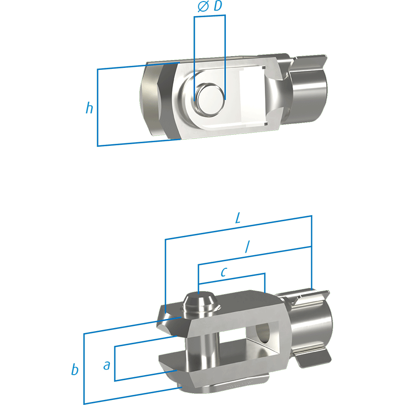 Clevis heads with s-bolts